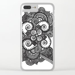 Grow to be a Zentangle Clear iPhone Case