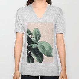 Ficus Elastica #24 #SummerVibes #foliage #decor #art #society6 Unisex V-Neck