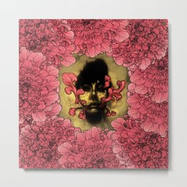 I Am Serius With Flowers Metal Print