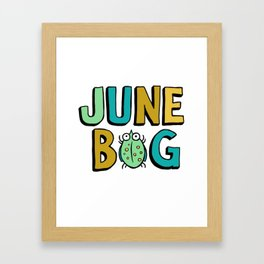 June Bug Framed Art Print