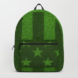 The grass and stripes / 3D render of USA flag grown from grass Backpack