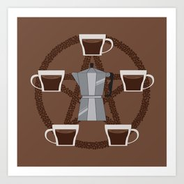 Coffee Summon Art Print
