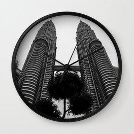 Petronas b&w Wall Clock