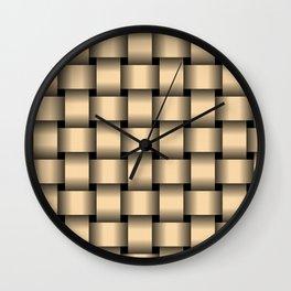 Large Navajo White Orange Weave Wall Clock