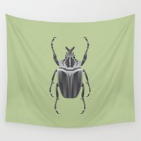 beetle Wall Tapestries featuring Beetle by Aaron Keshen