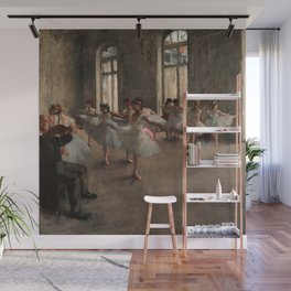 Classical Masterpiece 'The Ballet Rehearsal' by Edgar Degas Wall Mural