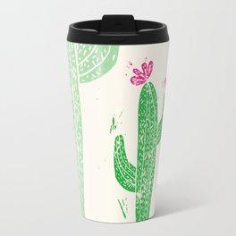 Linocut Cactus #2 Travel Mug