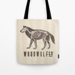 WOODWOLF | Co. Wooden Skeleton  Tote Bag