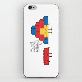 positive blocks... iPhone Skin