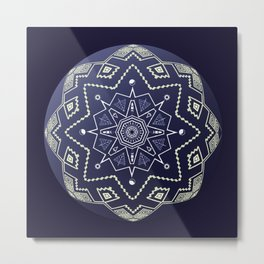 Wedgewood Sphere Mandala Metal Print