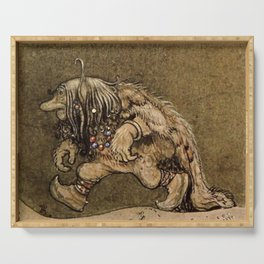 """Farm Troll"" Watercolor by John Bauer Serving Tray"