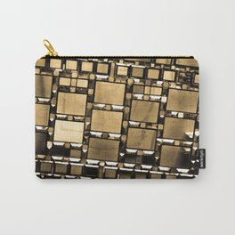 Sepia Abstract Geometric Shapes Decorative Mirror Print Carry-All Pouch
