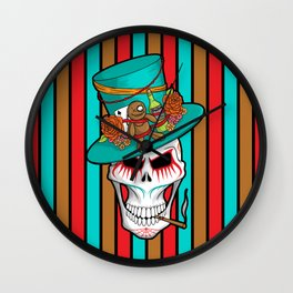 Day of the Dead Voodoo Lord Wall Clock