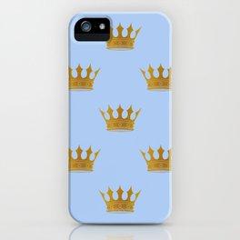 Louis Blue Gold Crown Prince of Cambridge iPhone Case