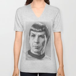 Spock - Fascinating (Star Trek TOS) Unisex V-Neck
