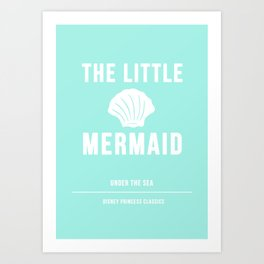 Disney Princesses: The Little Mermaid Minimalist Art Print