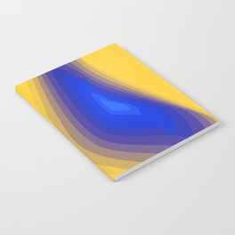 Blue and yellow Notebook