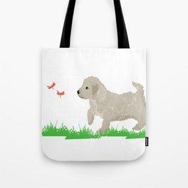 Cockapoo dog art cream Tote Bag
