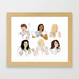 Funny Ladies Framed Art Print