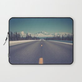 Snow Mountain Road (Color) Laptop Sleeve