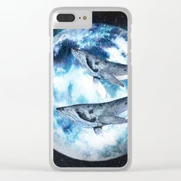 Flying Whales Clear iPhone Case