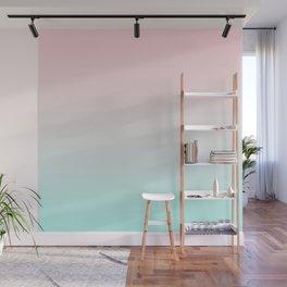 Pastel Ombre Millennial Pink Mint Gradient Wall Mural