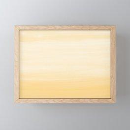 Touching Yellow White Watercolor Abstract #1 #painting #decor #art #society6 Art Print Framed Mini Art Print