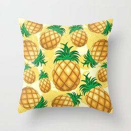 Pineapple Juicy Pattern Throw Pillow