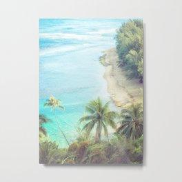 Dreamy Beach Portrait Metal Print