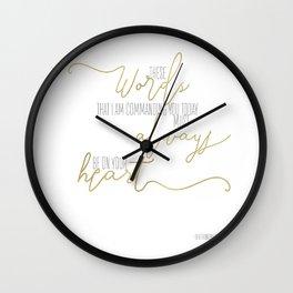 Deuteronomy 6:6 - Goldie Wall Clock