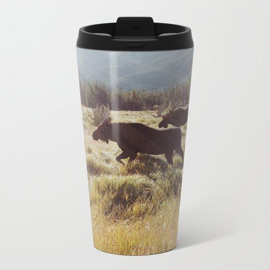 Three Meadow Moose Metal Travel Mug