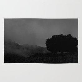 fog and tree Rug