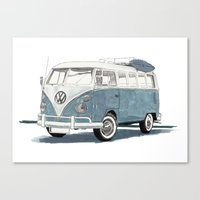 volkswagen Canvas Prints featuring Volkswagen Transporter by Rik Reimert
