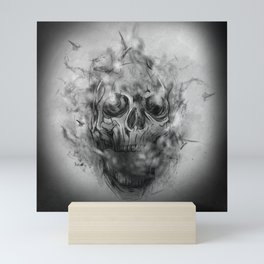 Flaming Skull Mini Art Print