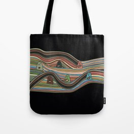 Line Faces Eighteen Tote Bag