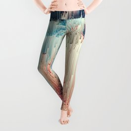 Fairyland - Abstract Glitchy Pixel Art Leggings