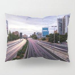 Motorway in Madrid at sunset Pillow Sham