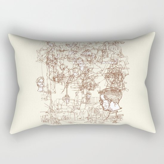 This is What We Call a Life Drawing Rectangular Pillow