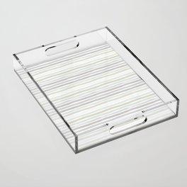 Watercolor Stripes Hues of Grey by Friztin Acrylic Tray