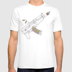 Art47 Mens Fitted Tee White MEDIUM