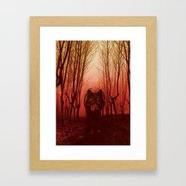 Gwyllgi Black Dog Hellhound Wolf Illustration Framed Art Print
