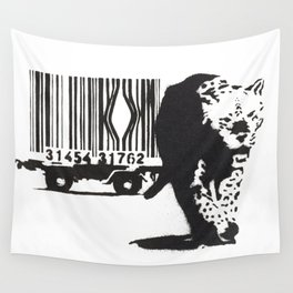 Banksy Animal Rights Artwork, Jaguar Tiger Barcode Prints, Posters, Bags, Tshirts, Men, Women, Youth Wall Tapestry