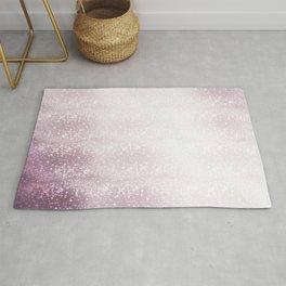 Lavender Purple Bokeh Effect Ombre Rug