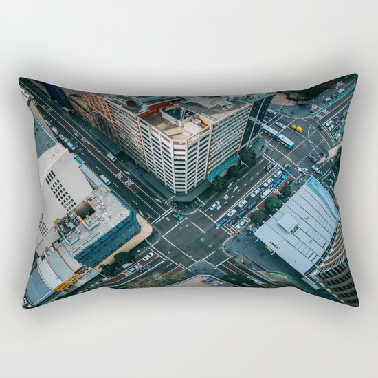New York City Skyscaper View Rectangular Pillow