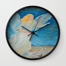Bless me | Guardian Angels are Here | Angel of Abundance | Love Wall Clock