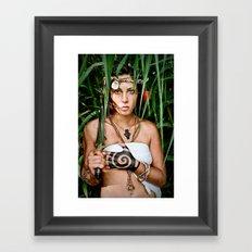 castaway girl Framed Art Print