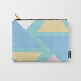 Triangle origami pastel pattern art Carry-All Pouch
