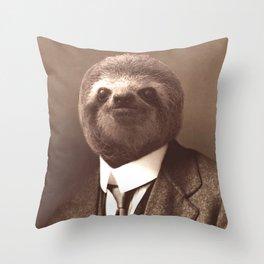 Gentleman Sloth #1 Throw Pillow