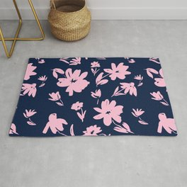 Blue and Pink Florals Rug