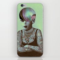 barbie iPhone & iPod Skins featuring BARBIE ILLUSTRATED by Julia Lillard Art